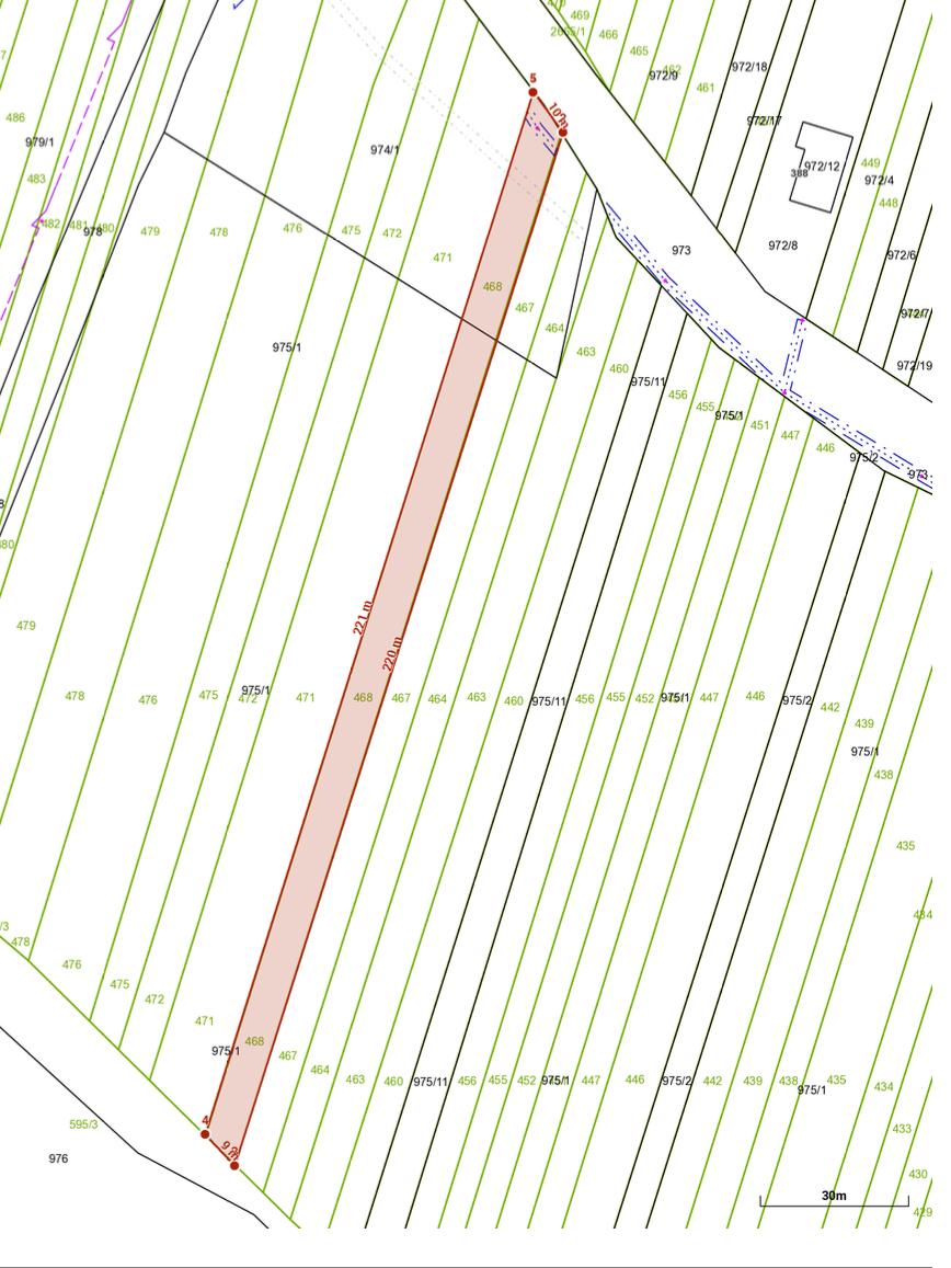 Snímka katastrálnej mapy